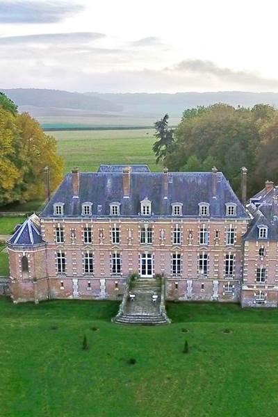 Cha^teau d'Auteuil vu d'un drone