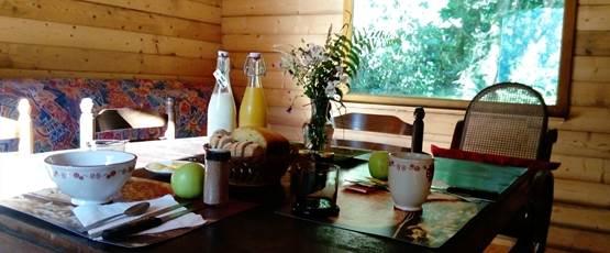 Lait, brioche, beurre et confiture de la ferme