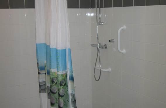 douche aménagée