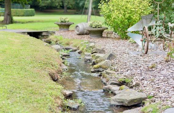 petit ruisseau sur le domaine