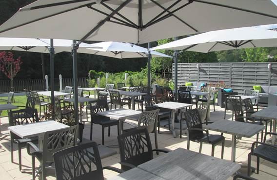Auberge en Ardenne : terrasse