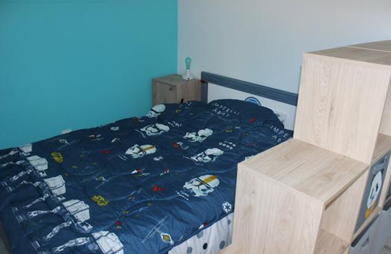 lit enfant chambre bleue