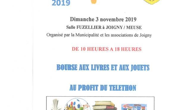 Programme Téléthon du 3 novembre 2019