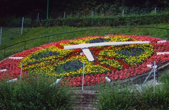 horloge florale mont olympe
