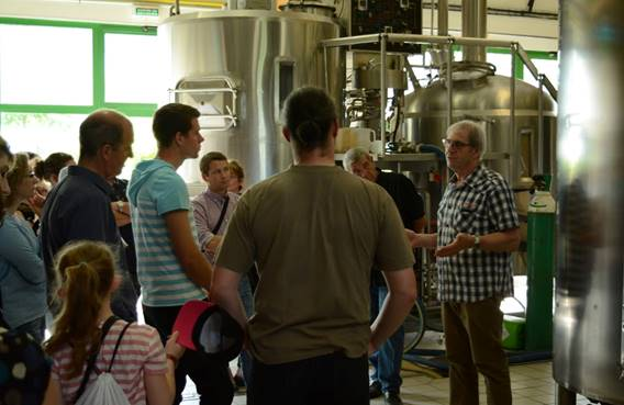 visite guidée de la brasserie Ardwen