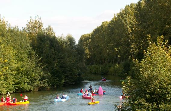 Canoë et vallée de l'Aisne