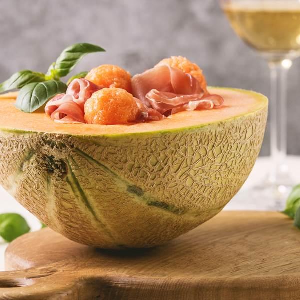 Recette - Melon à la Cathagène et au jambon cru