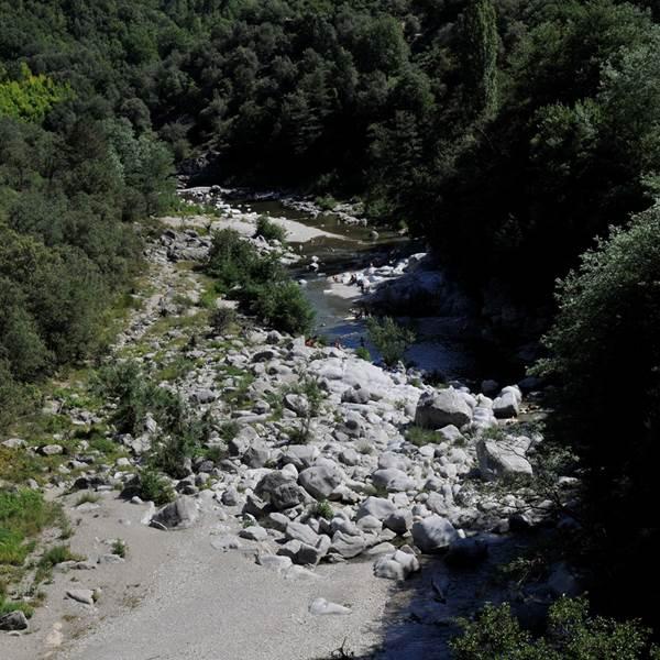 Escale à Mialet: rivière et arboretum de bonsaï
