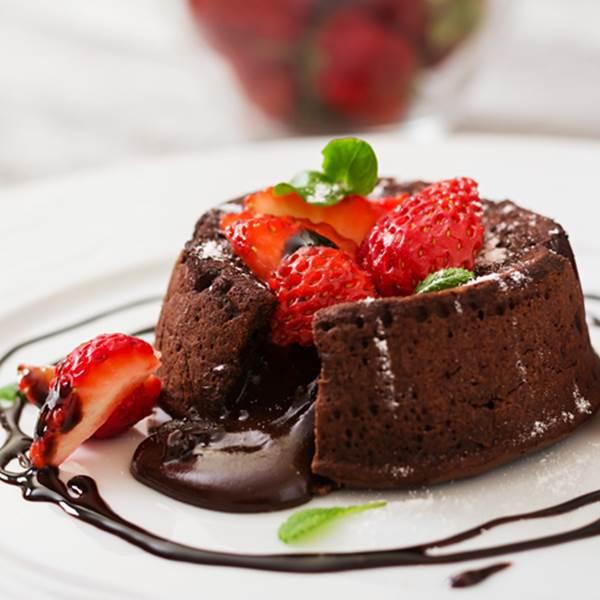 Recette de Pâques -Fondant au chocolat à la farine de châtaigne