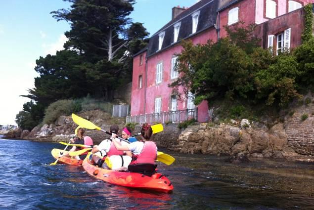 kayak de mer avec Au Gré du Vent dans le Morbihan