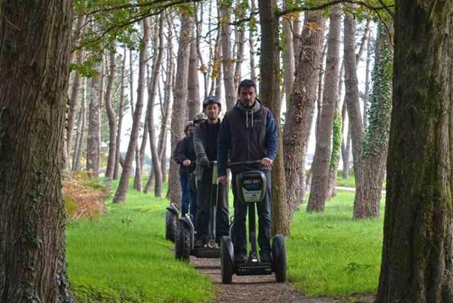Mobilboard Carnac / Quiberon balade Segway en forêt