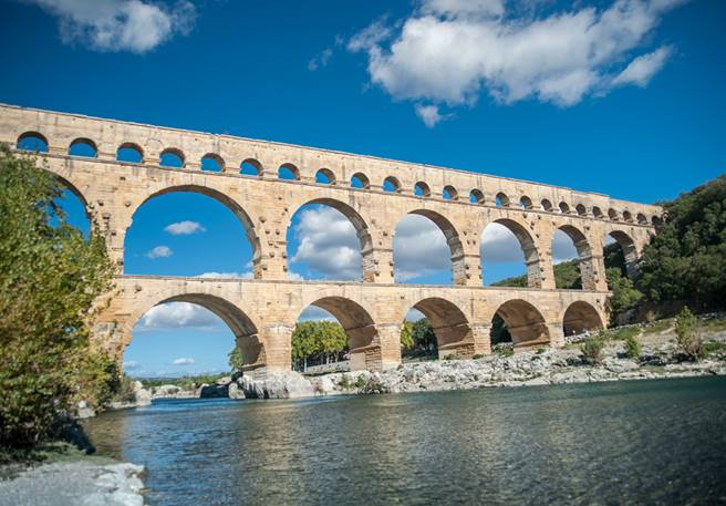 En famille au Pont du Gard