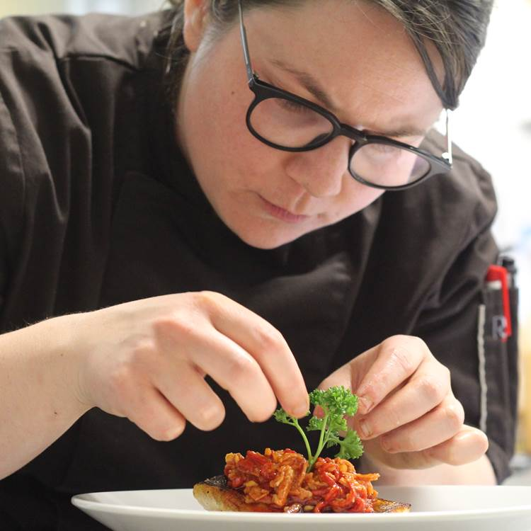 Aurelie PINON restaurant le rond point d'hor Hossegor