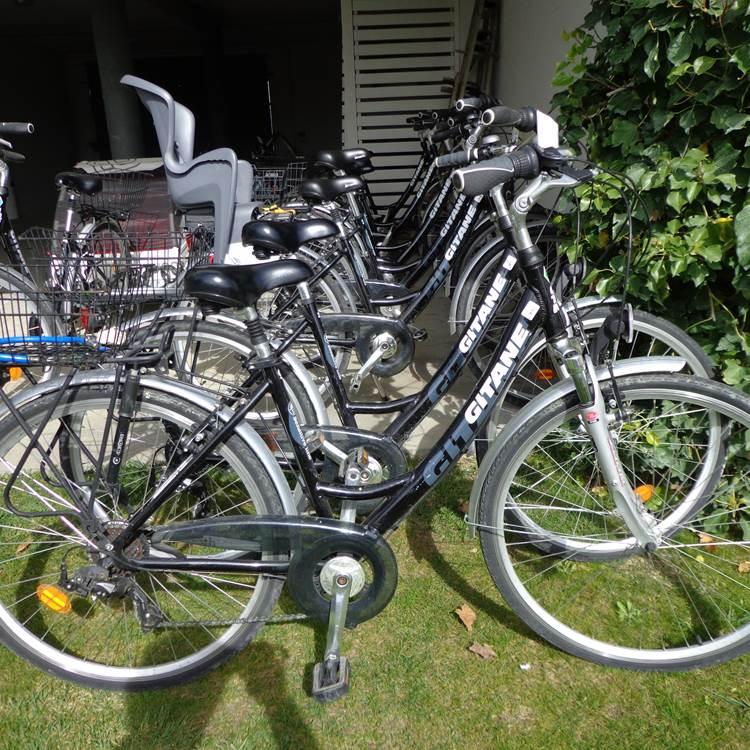 location de vélo au sein de l'hôtel