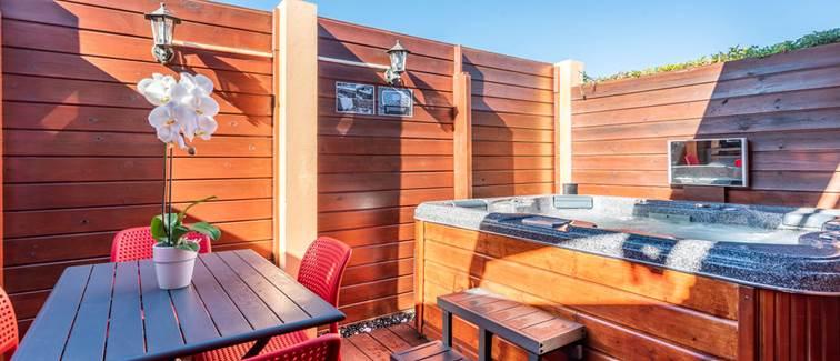 Terrasse privé Bungalow Premium Spa