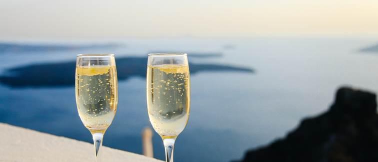 Bouteille de champagne à Bandol Villa Azur Golf