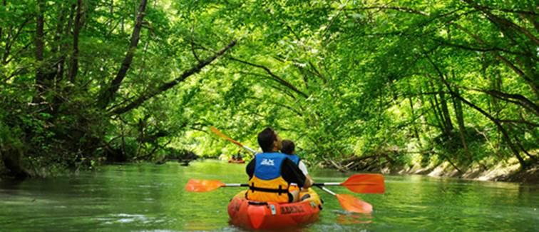 balade-canoe¨-Kayak-Petite Amazonie_Expe´rience-©pierremahe´