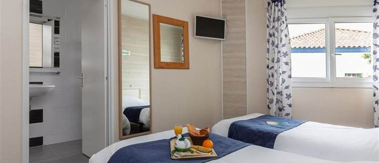 Chambre Twin Hotel Le Rond Point Hossegor Landes