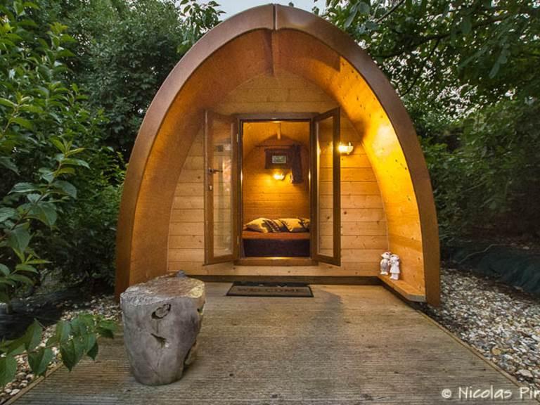 Nuit dans un pod au coeur de la campagne normande avec bain bouillonnant privatif