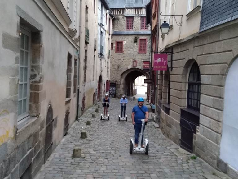 Balade gyropode, vieux Rennes , juin 2018