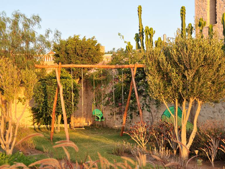 jardin et balançoire