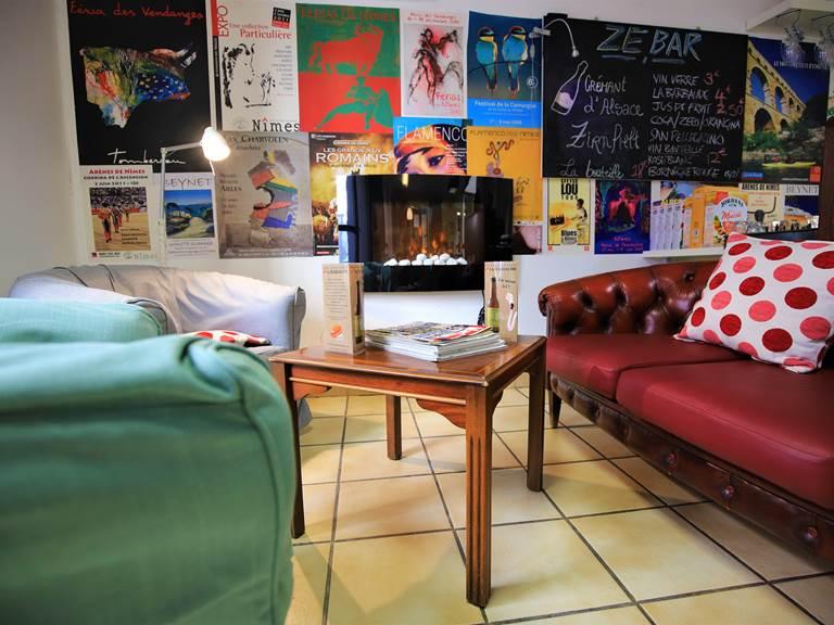 Hôtel des Tuileries - bar et coin salon
