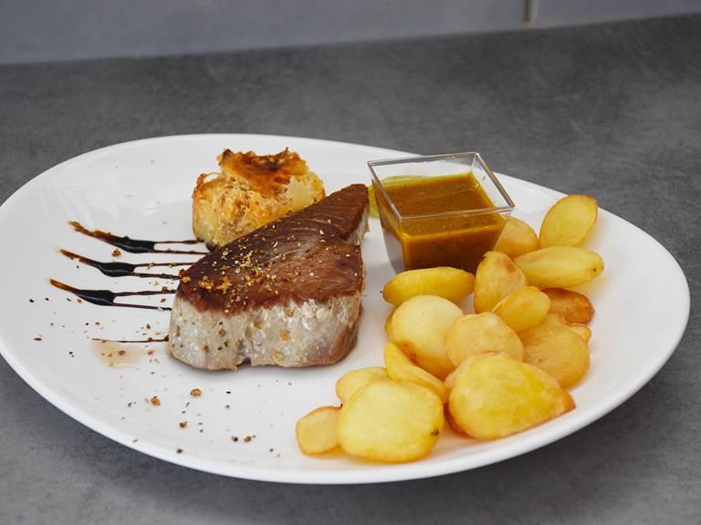 Mi-cuit de thon restaurant saint françois