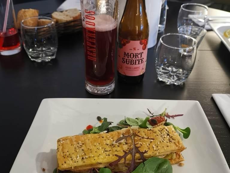 Millefeuille au Curé Nantais et fondue de poireaux