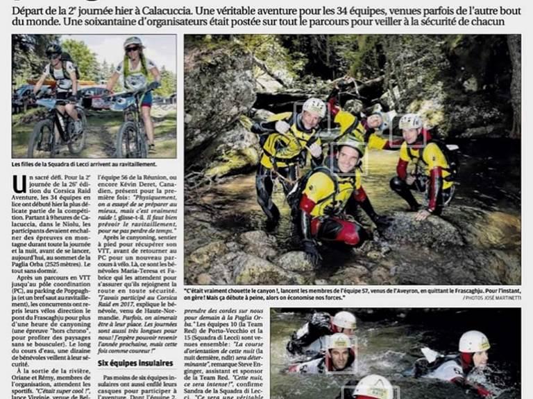 Corsica Raid aventures 2019 Etape dans la région du Niolu