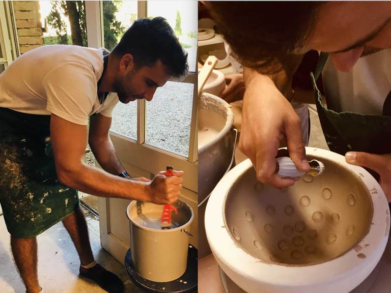 Travail en porcelaine cours de poterie chambre-d-hote les matins rubis-tarn-et-garonne-occitanie-location-toulouse