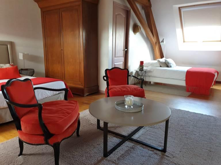 Grand espace ouvert pour la chambre Mathilde
