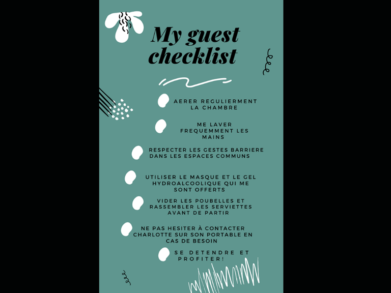 my guest check list