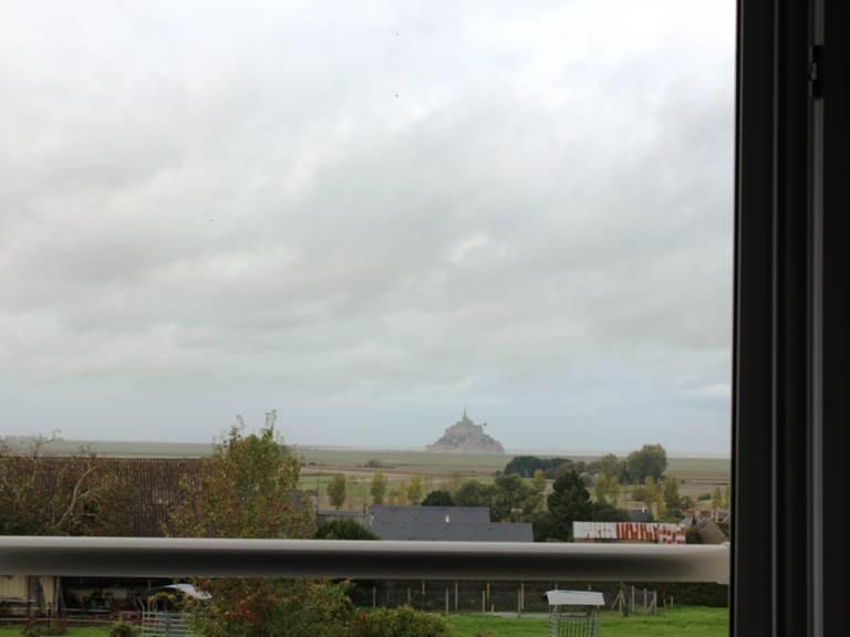 Autre vue sur le Mont St Michel de la chambre