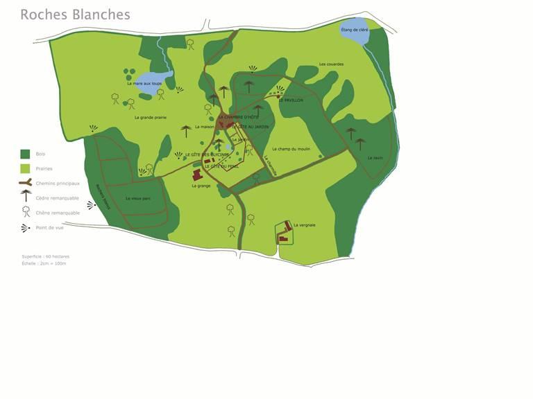Le plan du Parc des Roches Blanches