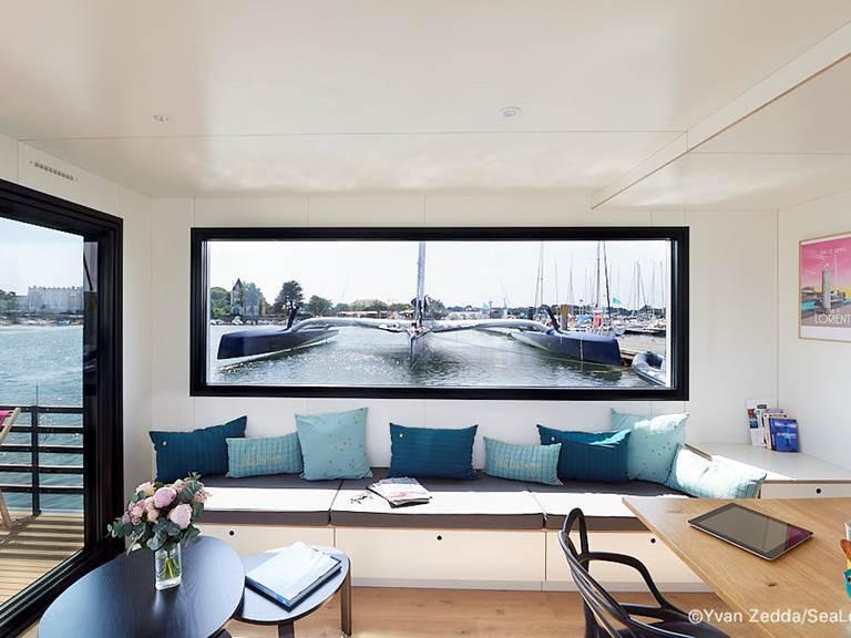 Coin salon - Lodge Boat L'Endroit