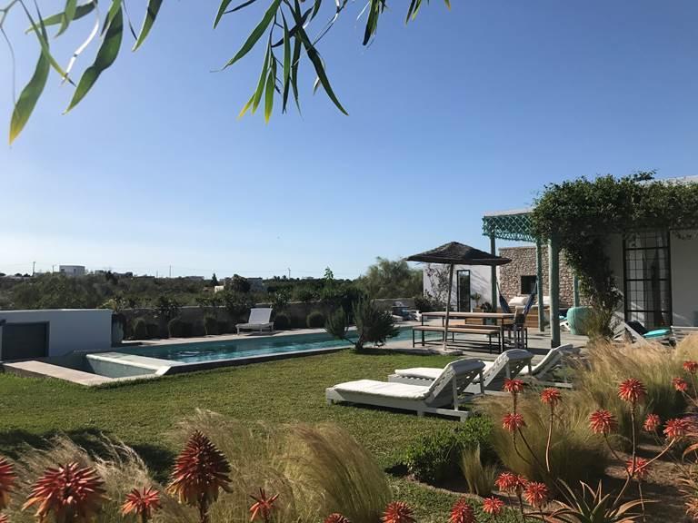 dar Céleste -Essaouira - piscine et jardin