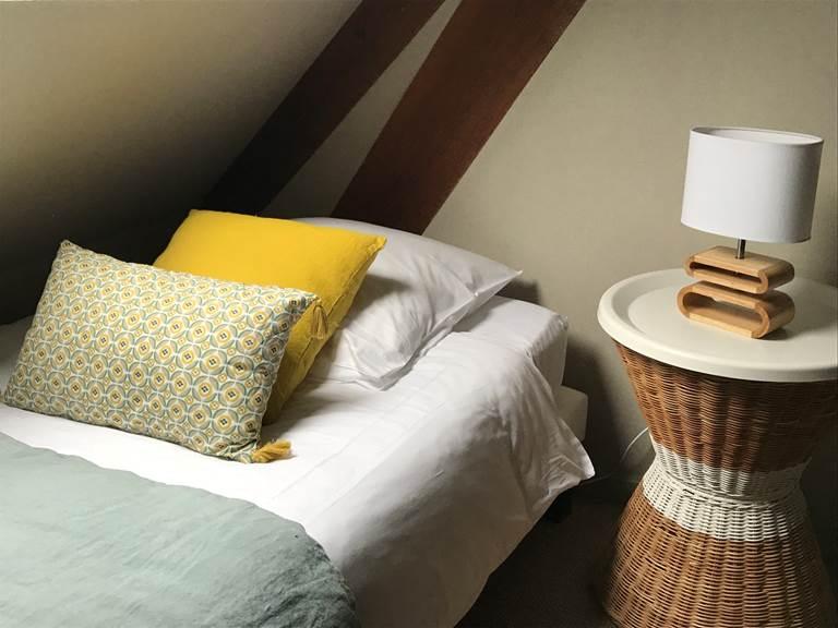 Chambre Guillaume, du côté des enfants 2 lits simples