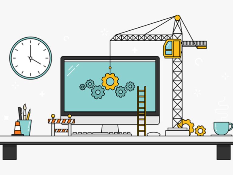 Image symbolisant un site Web en construction