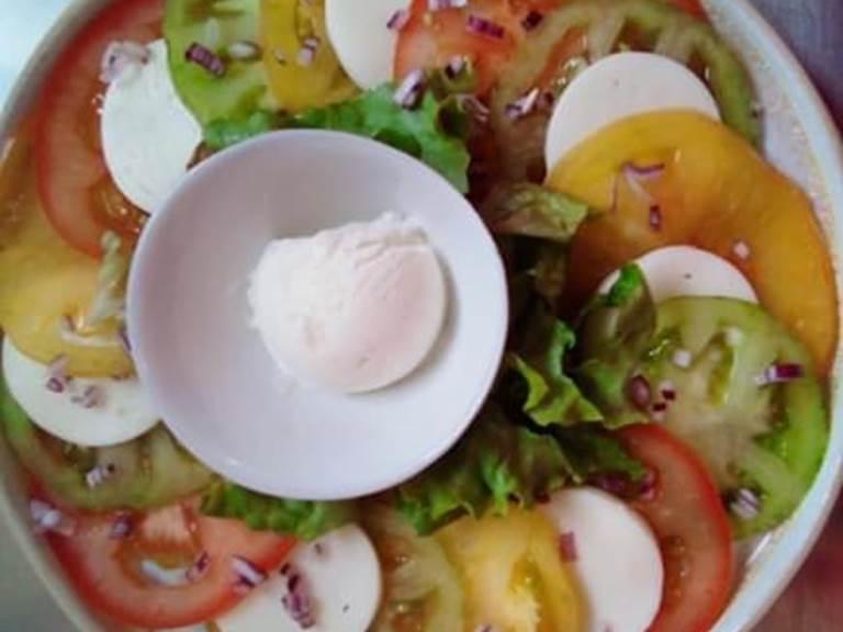 Trio de tomate et sa glace mozzarella
