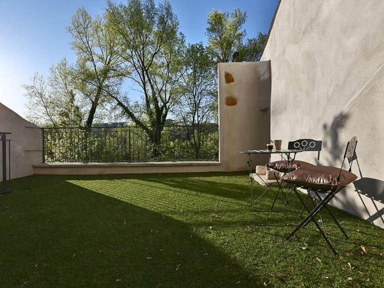 Terrasse de 30 m² avec vue sur le Rhône