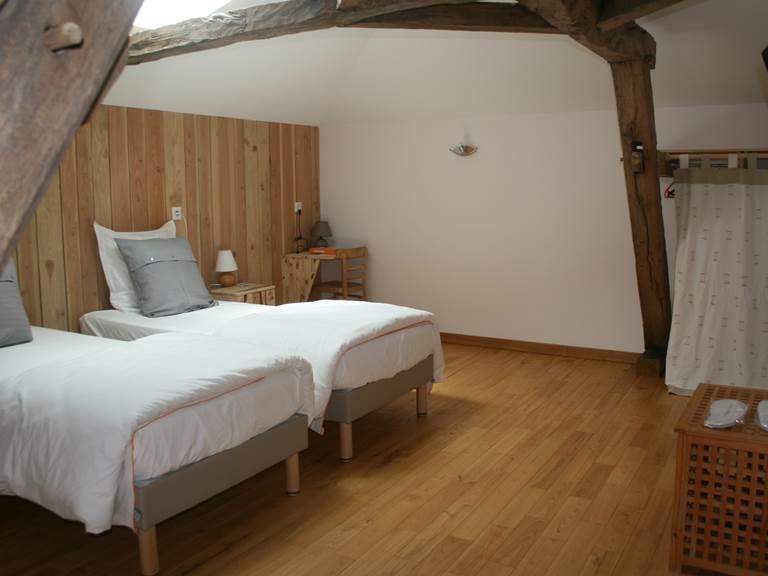 la chambre Charente lits simples