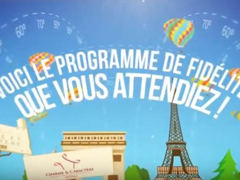 programme fidélité Charme & Caractère, simple, actuel, gratuit, amusant