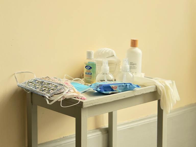 matériel désinfectant aux chambres d'hôtes la Rougeanne