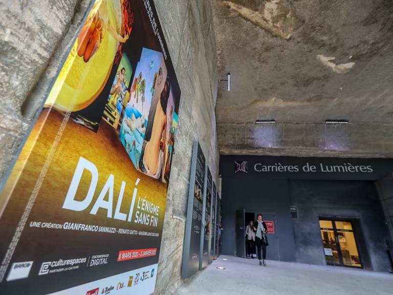 Carrières de Lumières - Dali, l'énigme sans fin -