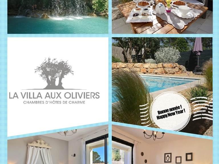 Voeux 2019 happy new year la villa aux oliviers maison d'hôtes chambres d'hôtes de charme