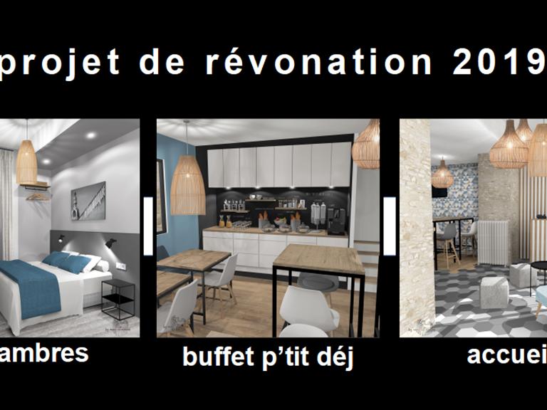 rénovation chambres p'tit déj et accueil