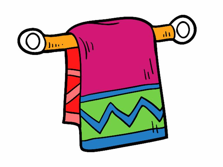 serviette-de-main-la-maison-la-salle-de-bain-colorie-par-maely-95745
