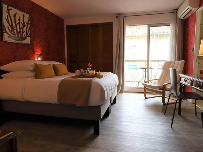 Chambre double  twin avec grand balcon au calme