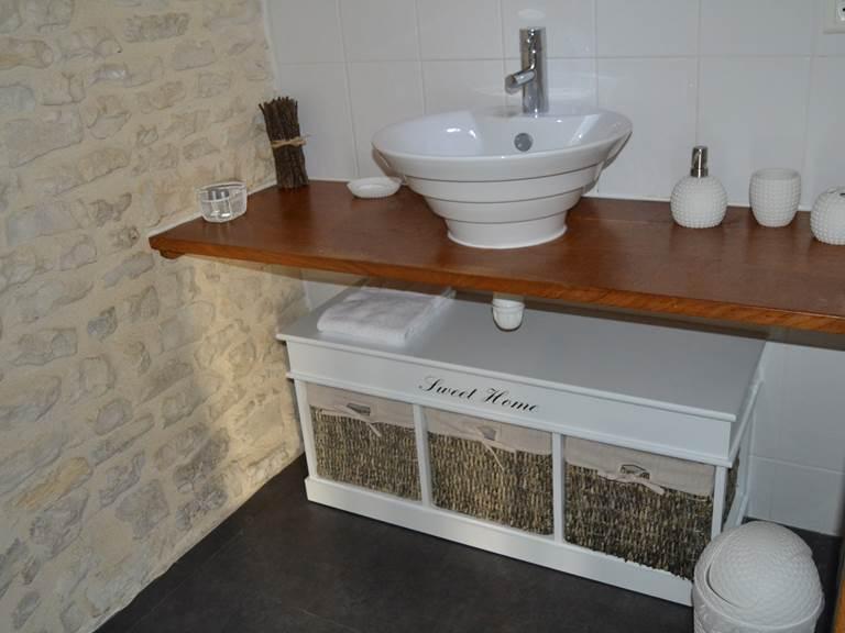 Salle d'eau - Chambre d'hôte LIN (32 M2) à la Rochelle Lodge