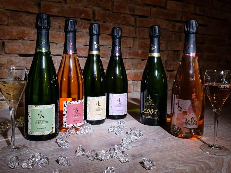 Coffret découverte 6 bouteilles de champagne JS. Briche